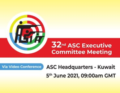 32nd ASC Executive Committee Meeting Via Video Conference will be held on 5th June 2021.