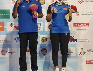 India Won Silver Medal In 10m Air Pistol Mixed Team At ISSF World Cup Rifle/Pistol/Shotgun In Osijek, Croatia
