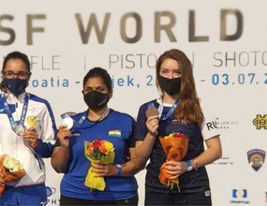 India Won Gold Medal in 25m Pistol Women at ISSF World Cup Rifle/Pistol/Shotgun in Osijek, Croatia