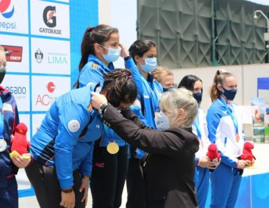 ISSF Junior World Championship Rifle / Pistol / Shotgun ·Lima, PER. In 25m Pistol Team Women Junior athletes from India SANGWAN Rhythm, KAPOOR Naamya, BHAKER Manu took the First place. Indians already have won 9 Gold medals and still leading in Medal Standing.