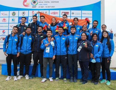 ISSF Junior World Championship Rifle / Pistol / Shotgun · Lima, PER: On the final day of the ISSF Junior World Championship Rifle / Pistol / Shotgun, athletes competed for medals in four events. All medals were won by athletes from India.